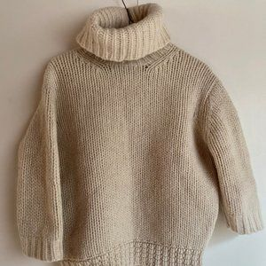 J. Crew super chunky cropped lambswool turtleneck